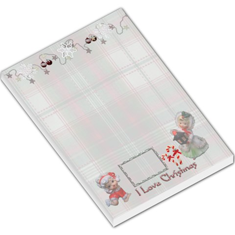 I Love Christmas Angel Lg Memo Pad Plaid By Ellan   Large Memo Pads   Z1z2ns23zvph   Www Artscow Com