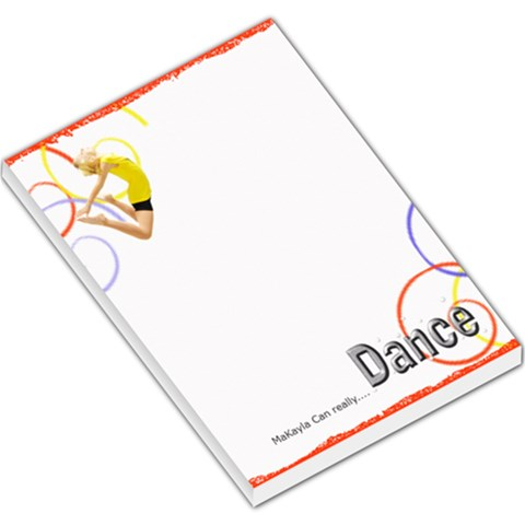 Makayla Can Dance By Danielle Christiansen   Large Memo Pads   5v4s5soncwyu   Www Artscow Com