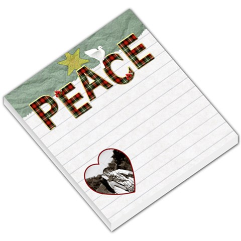 Peace Small Memo Pad By Lil    Small Memo Pads   O7z75cyabfev   Www Artscow Com