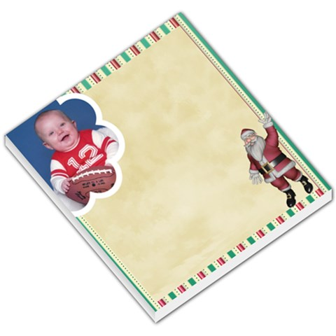 Here Comes Santa Memo Pad2 By Snackpackgu   Small Memo Pads   0ans7r3vxv1g   Www Artscow Com