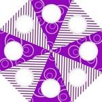 Purple Folding Umbrella Template