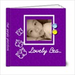 6x6 Photo book 20 Pages - Purple  - 6x6 Photo Book (20 pages)