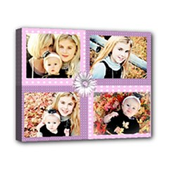 4 pic 8x10 canvas template girl - Canvas 10  x 8  (Stretched)