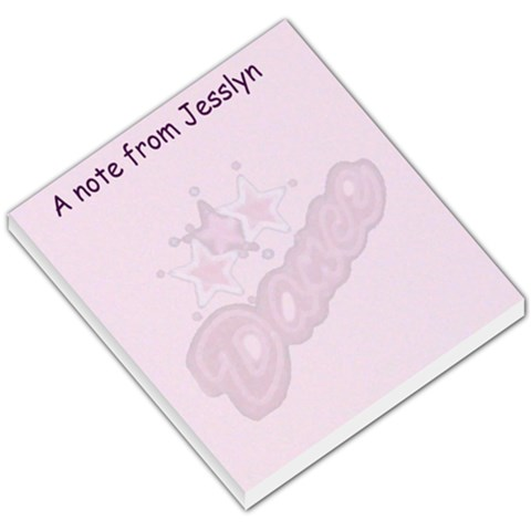 Dance Note Pad By Danielle Christiansen   Small Memo Pads   2d8o23v3yta4   Www Artscow Com
