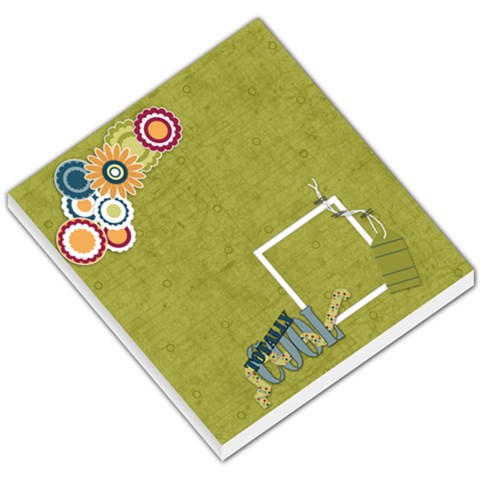 Memo Pad Totally Cool By Lisa Minor   Small Memo Pads   L2s3883ue2sz   Www Artscow Com