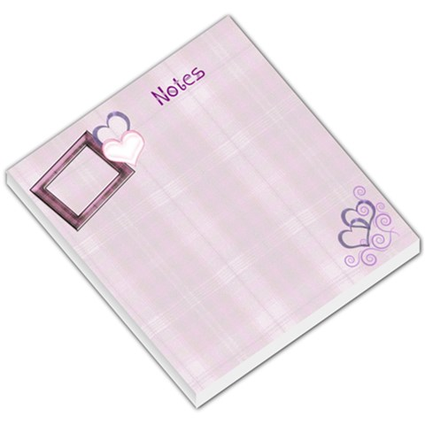 Purple Plaid Small Memo Pad By Ellan   Small Memo Pads   Ked0hm0exjd9   Www Artscow Com