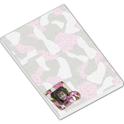 Large Pink Cammo Notepad By Amanda Bunn   Large Memo Pads   W6x2vzouwii7   Www Artscow Com