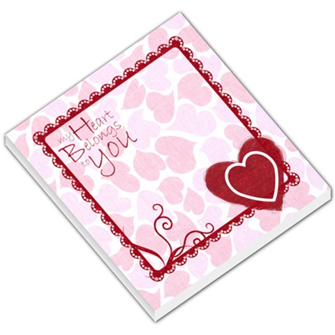 My Heart Belongs To You Valentines Memo Pad By Catvinnat   Small Memo Pads   7c4ldy10kf83   Www Artscow Com