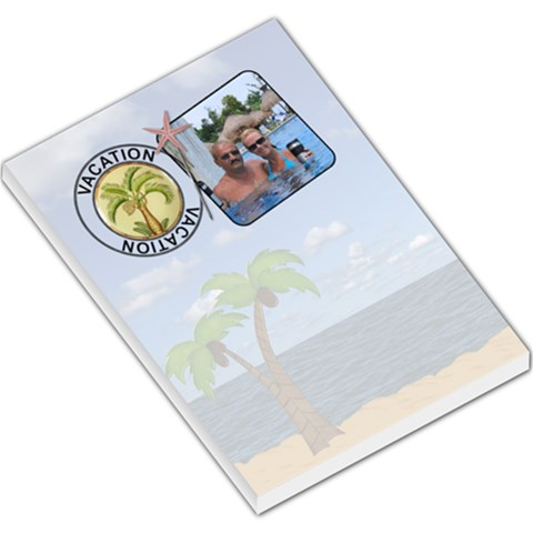 Vacation Large Memo Pad By Lil    Large Memo Pads   Bbeyj5sv73xo   Www Artscow Com