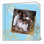Xmas Swirls 8x8 Album - 8x8 Photo Book (20 pages)
