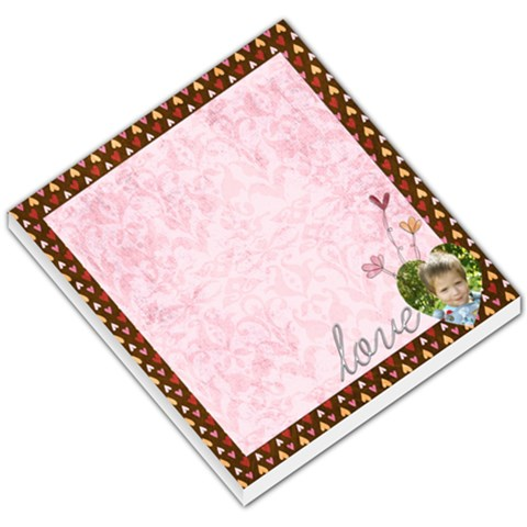 Love Valentines Memo Pad By Sheena   Small Memo Pads   166gt9llagob   Www Artscow Com