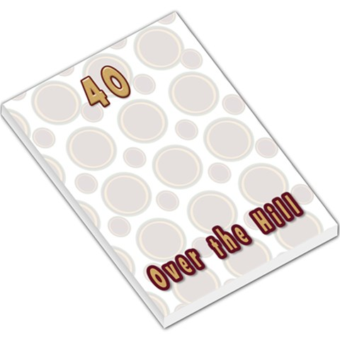 40 Over The Hill Notepad By Danielle Christiansen   Large Memo Pads   Ncar4p3co65u   Www Artscow Com