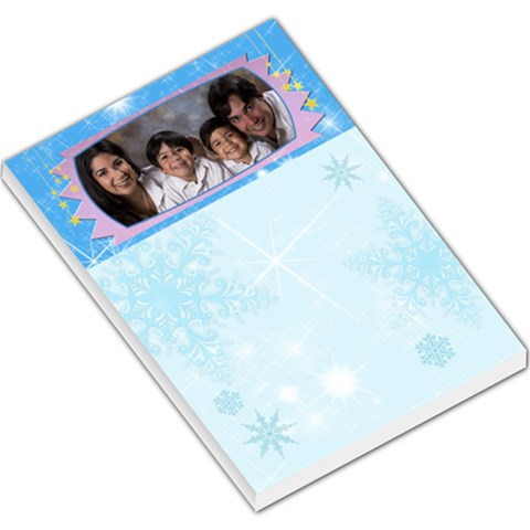 Blue Sparkling Snowflake Memo Pad By Ivelyn   Large Memo Pads   8youeysjpo0f   Www Artscow Com