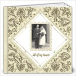 True Love Damask Wedding Album 12 x 12 - 12x12 Photo Book (20 pages)
