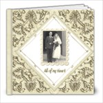 True Love Damask Wedding Album 8 x 8 - 8x8 Photo Book (20 pages)
