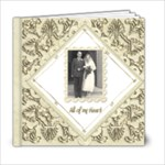 True Love Damask Wedding Album 6 x 6 - 6x6 Photo Book (20 pages)