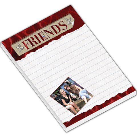 Friends Red Large Memo Pad By Lil    Large Memo Pads   Agdyh0x2jgr7   Www Artscow Com