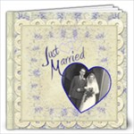 Just Married 12 x 12 Wedding Album - 12x12 Photo Book (20 pages)
