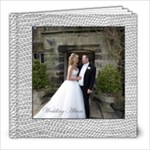 Sumptuous Silver Leather Wedding Album 8 x 8 80 page  - 8x8 Photo Book (80 pages)