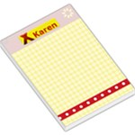 yellow & red notepad - Large Memo Pads
