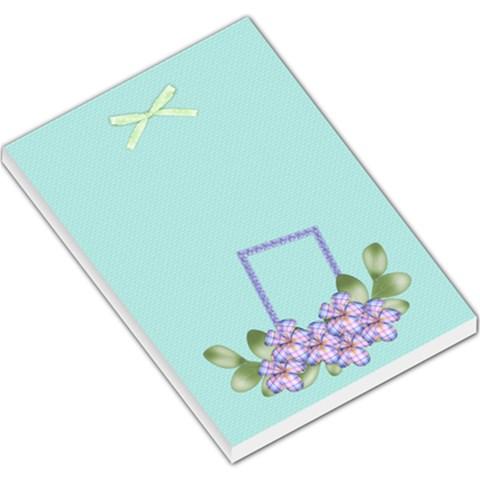 Spring Fancy Memo Pad 1 By Lisa Minor   Large Memo Pads   S5n21tt1edah   Www Artscow Com