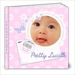 Pretty Lucille Little Girl 8 x 8 Photobook - 8x8 Photo Book (20 pages)