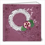 8x8 Purple Gardens Album- template - 8x8 Photo Book (20 pages)