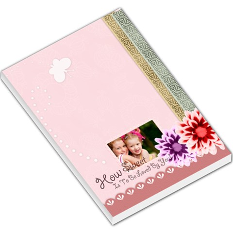 Sweet Sweet Girl By Joely   Large Memo Pads   Ajk9nig4vypq   Www Artscow Com