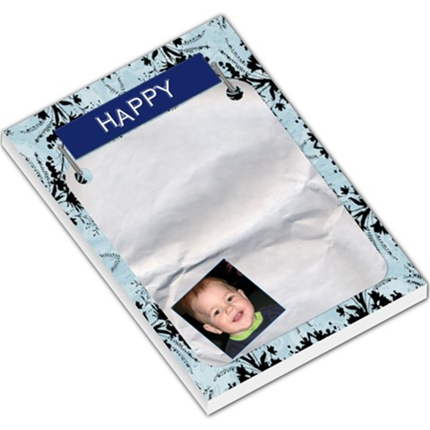 Happy Large Memo Pad By Lil    Large Memo Pads   Hsgisa2azayb   Www Artscow Com