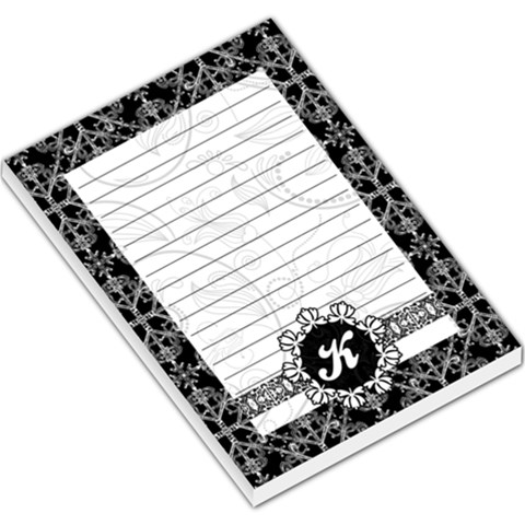 Black & White Memo Pad With Monogram By Klh   Large Memo Pads   Hw1xf53ilta6   Www Artscow Com