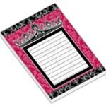 Black & Pink Crown Memo Pad - Large Memo Pads