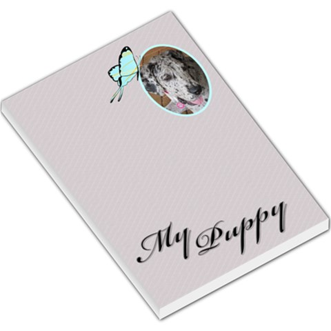 My Puppy Large Memo Pad By Deborah   Large Memo Pads   M60qqshb43yp   Www Artscow Com