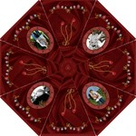 Hearts, Hearts, Hearts Red Folding Umbrella