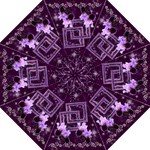 Lavender Iris Starry Night umbrella - Folding Umbrella
