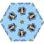 Blue Hydranga Mini Folding Umbrella