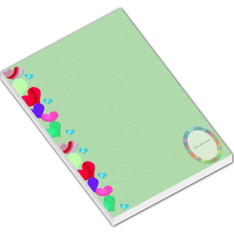 Allaboutlove Lge Note By Kdesigns   Large Memo Pads   8ti1ot034g6m   Www Artscow Com