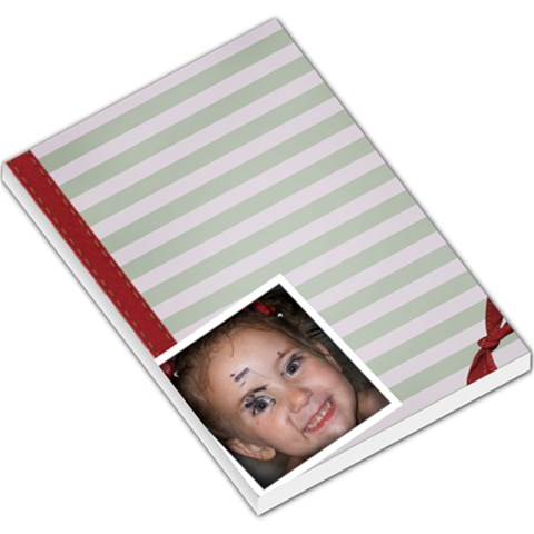 Large Stripe Notepad By Amanda Bunn   Large Memo Pads   O58hpopig807   Www Artscow Com