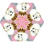 White Poodle Princess Mini Folding Umbrella