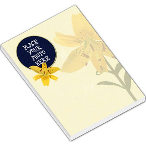 Lily Large Memo Pad By Chere s Creations   Large Memo Pads   Fh8skq59maqr   Www Artscow Com