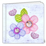 Hearts & Flowers 8 x 8  deluxe 20 page all occasion album - 8x8 Deluxe Photo Book (20 pages)
