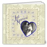 Just Married  Deluxe 8 x 8 Wedding Album - 8x8 Deluxe Photo Book (20 pages)