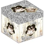 Flower Power 12 inch photocube stool  storage - Storage Stool 12