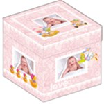 Baby Love New Baby Girl 12 inch storage  stool - Storage Stool 12