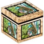 Music Box  Photo storage stool 12 inch - Storage Stool 12