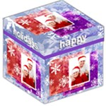 Happy Holidays 12 inch Storage stool - Storage Stool 12
