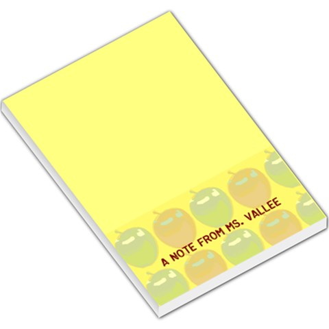 Teacher Pad By Niki Frew   Large Memo Pads   H353wvwkvdmx   Www Artscow Com
