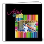 Artist @ Work Deluxe 8 x 8 20 page book - 8x8 Deluxe Photo Book (20 pages)