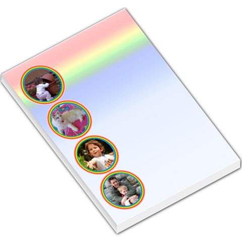 Rainbow Bubble Large Memo By Deborah   Large Memo Pads   3nh35u8h8fsw   Www Artscow Com