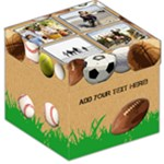 Sports Theme Kids Photo Storage Cube - Storage Stool 12