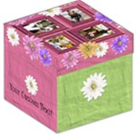Pink Girl Flower Photo Storage Stool - Storage Stool 12